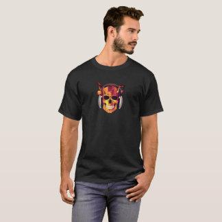Camiseta T-shirt ardente do crânio