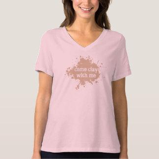 """Camiseta T-shirt """"argila do centro do parque de Tyler"""
