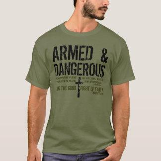 Camiseta T-shirt armado e perigoso do verso da bíblia