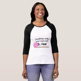 Camiseta T-shirt armado e pronto do raglan do gancho de