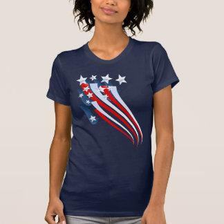 Camiseta T-shirt arrebatador da bandeira americana