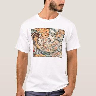 Camiseta T-shirt: Arte Nouveau -- Língua das flores