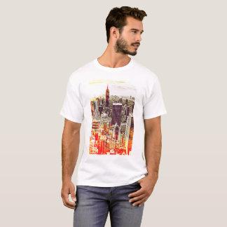 Camiseta T-shirt artística da skyline de New York