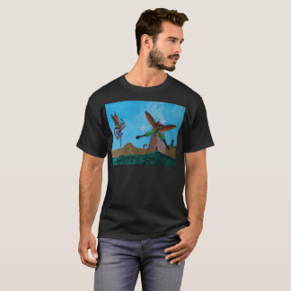 Camiseta T-shirt artístico do beijo feericamente