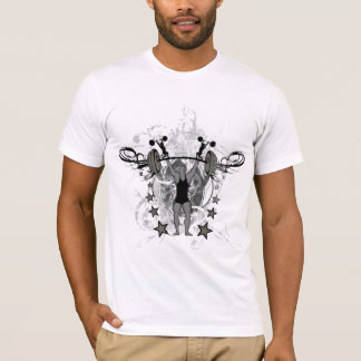Camiseta T-shirt artístico do bodybuilder do Weightlifter