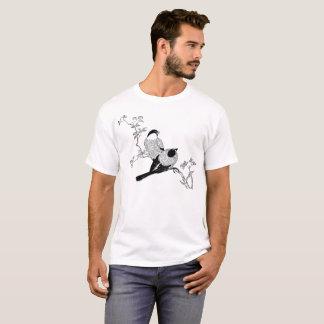 Camiseta T-shirt ascendente da ilustração dos pássaros