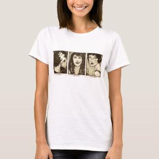 Camiseta T-shirt ativo fêmea das legendas do filme