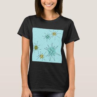 Camiseta T-shirt atômico azul de Starbursts do ovo do pisco
