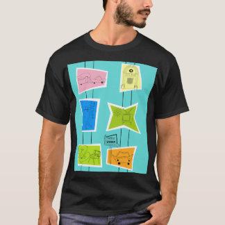 Camiseta T-shirt atômico retro do kitsch