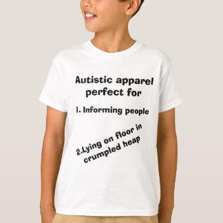 Camiseta T-shirt autístico do roupa da consciência do