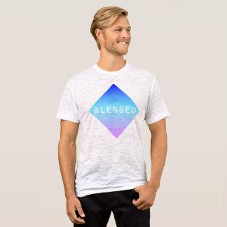 Camiseta T-shirt azul abençoado do diamante de Swoozy