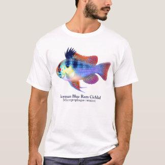 Camiseta T-shirt azul alemão da cichlidae da ram