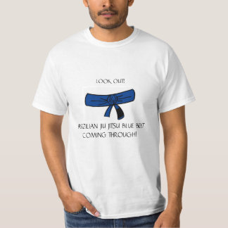 Camiseta T-shirt azul da correia de BJJ