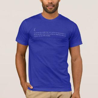 Camiseta T-shirt azul de BSoD da morte - ELE suporte