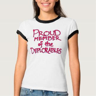 Camiseta T-shirt azul de Deplorables (rotulação vermelha)