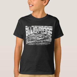 Camiseta T-shirt azul de Ridge do navio do comando
