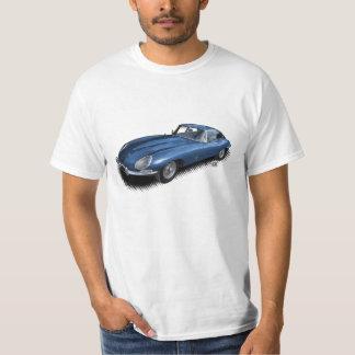 Camiseta T-shirt azul do carro de esportes do vintage de