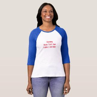 Camiseta T-shirt azul do corte do basebol bonito
