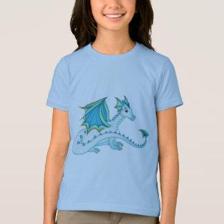 Camiseta T-shirt azul do dragão do gelo