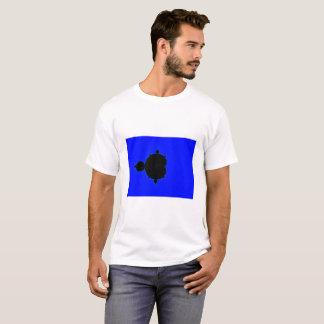 Camiseta T-shirt azul do Fractal de Mandelbrot do fundo