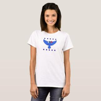 Camiseta T-shirt azul do logotipo da contração muscular sem