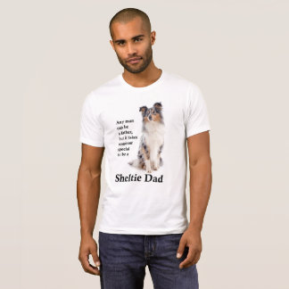 Camiseta T-shirt azul do pai de Merle Sheltie