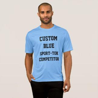 Camiseta T-SHIRT AZUL do SPORT-TEK dos homens