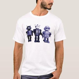 Camiseta t-shirt azul dos robôs