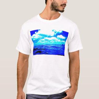 Camiseta T-shirt azul elétrico dos homens