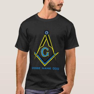Camiseta T-shirt azul personalizado do alojamento