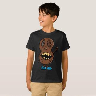 Camiseta T-shirt azul psicótico dos miúdos dos calçados do