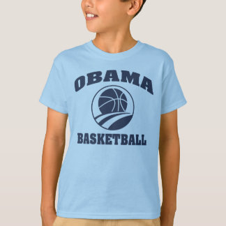 Camiseta T-shirt azul superior do basquetebol do Obama do