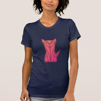 Camiseta T-shirt Baixo-poli da silhueta do gato