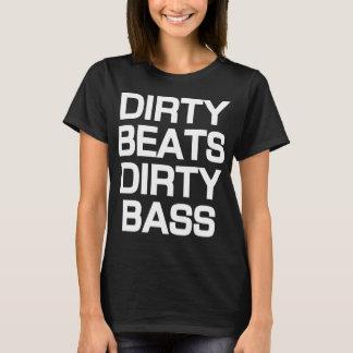 Camiseta T-shirt baixo sujo de Dubstep das batidas sujas