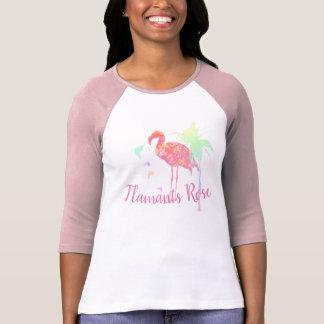 Camiseta T-shirt baliu+Canvas raglan 3/4 Flamingos Recortar