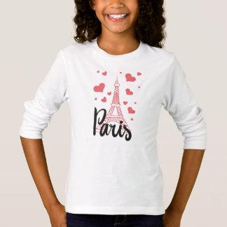 Camiseta T - shirt Básico A Mangas Longa Rapariga Paris