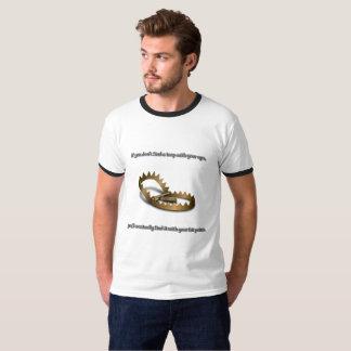 Camiseta T-shirt básico da campainha dos homens da