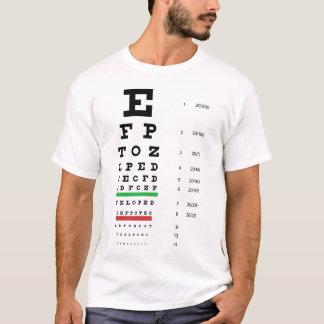 Camiseta T-shirt básico da carta de olho de Snellen
