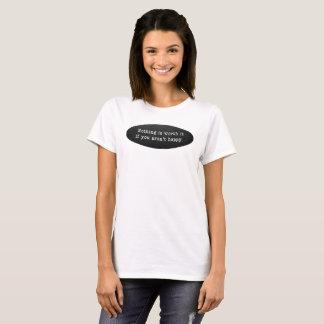 Camiseta T-shirt básico do branco das mulheres