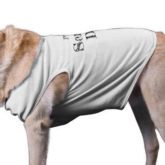 Camiseta T-shirt básico do cão do cão do serviço de PTSD