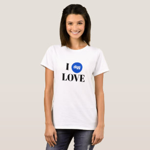 Camiseta T-shirt básico do fã de Digg