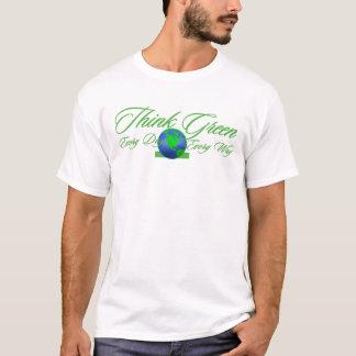 Camiseta T-shirt básico do pense verde 3
