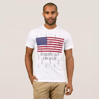 Camiseta T-shirt básico do roupa as pessoas dos homens