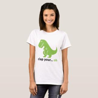 """Camiseta T-shirt básico do """"T-Rex"""" das mulheres"""