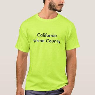 Camiseta T-shirt básico dos homens com o país da lamentação