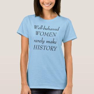 Camiseta T-shirt Bem-Comportado feminista das mulheres
