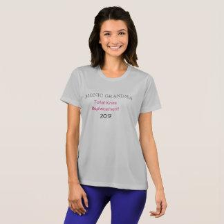 Camiseta T-shirt Bionic da substituição do joelho da avó