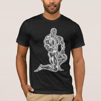 Camiseta T-shirt Bodybuilding da pose dos homens