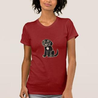 Camiseta T-shirt bonito AJ de Labradoodle dos desenhos