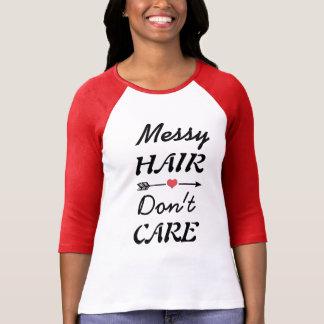 Camiseta T-shirt bonito com citações desarrumado do cabelo